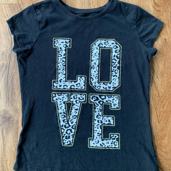 """Children's Place Girl's """"Love"""" Graphic Tee."""